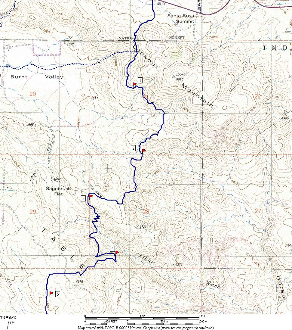 see topo map of the trail to mile  . plant guide to pacific crest trail south of sr san jacinto