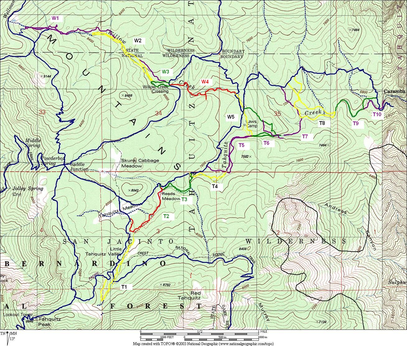 san jacinto trail map with Willow Tahquitz Creeks on Goliad Area Historic Sites besides Palm Canyon Trail To The Stone Pools together with War of 1812 further Mount San Jacinto Peak likewise Low Snow Hiking Around Mount Shasta.